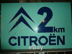 Ancien panneau signalisation citroën 145 x 95 cm