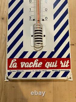 Ancien thermometre publicitaire VACHE QUI RIT