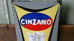 Ancien thermometre publicitaire émaillé cinzano j. Colin
