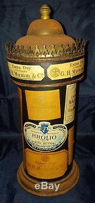 Ancienne Colonne Morris Publicitaire A Musique Tole Publicite Differant Alcool