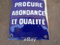 Ancienne Emaille Plaque De Proprete Potasse D'alsace Publicite Email