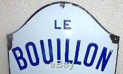 Ancienne Grande Plaque Emaillee Bouillon Kub
