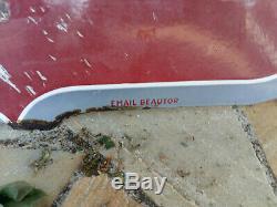 Ancienne Grande plaque émaillée double face SIMCA émail Beautor 75x98cm