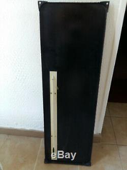 Ancienne Grande plaque émaillée thermomètre Bougies K L G 32x100cm