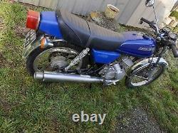 Ancienne MOTO KAWASAKI KH 125 A 1977 CARTE GRISE, no émaillée