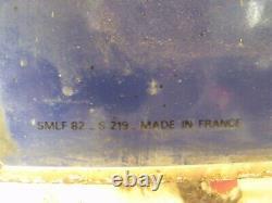 Ancienne PLAQUE ÉMAILLÉE MICHELIN DOUBLE FACE 80X80, motos