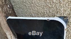 Ancienne PLAQUE EMAILLEE thermomètre EYQUEM Bougies / Garage huile déco bidon