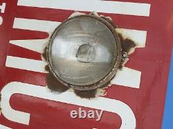 Ancienne PLAQUE EMAILLE SIMCA STOCKISTE signé EAS, garage, auto, moto, no copie