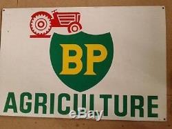 Ancienne PLAQUE MÉTAL TÔLE TRACTEUR BP, no copie, no émaillée, agriculture