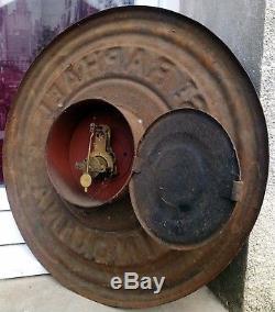 Ancienne Pendule, Horloge, Publicitaire St Raphael Quinquina Tole Peinte
