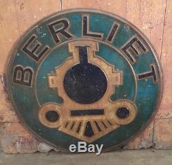 Ancienne Plaque Berliet Double Face