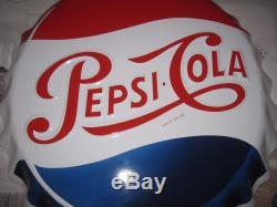 Ancienne Plaque Capsule Emaillee Pepsi Cola