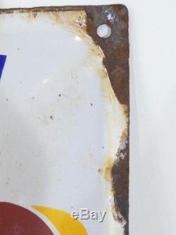 Ancienne Plaque Emaillée Bombée BOUILLON KUB Exiger le K