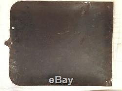 Ancienne Plaque Émaillée Bombée Simca