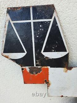 Ancienne Plaque Emaillée CASINO Cassandre E. A. S. 68x74cm Années 30