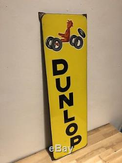Ancienne Plaque Emaillee DUNLOP