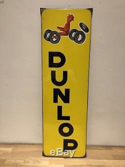 Ancienne Plaque Emaillee DUNLOP TOP ETAT