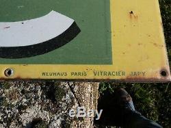 Ancienne Plaque Émaillée Energic Tôle Publicitaire Bp Garage Old Enameled Plate