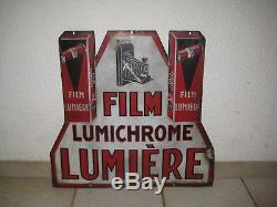 Ancienne Plaque Emaillee Film Lumichrome Lumiere