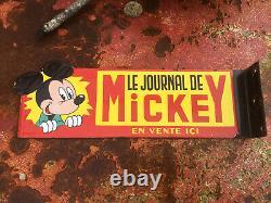 Ancienne Plaque Émaillée Journal De Mickey Presse Édition 1950 EAS