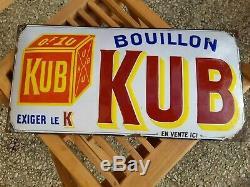 Ancienne Plaque Émaillée Kub