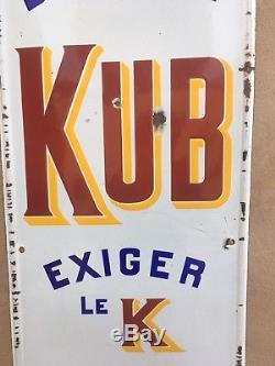 Ancienne Plaque Émaillée Kub No Copy