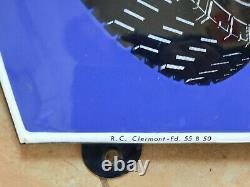 Ancienne Plaque Emaillée MICHELIN BIBENDUM E A S 38X45cm automobile garage