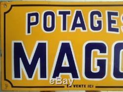 Ancienne Plaque Emaillee Potages Maggi En Vente ICI