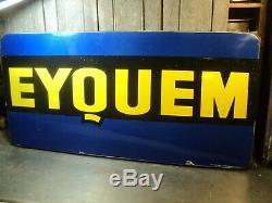 Ancienne Plaque Émaillée Publicitaire Eyquem Bougie Collection Garage Automobile