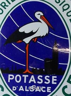 Ancienne Plaque Emaillee Publicitaire La Potasse Scories Potassiques Scoralsace