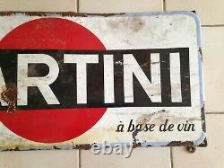 Ancienne Plaque Emaillee Publicitaire Martini Vintage