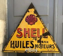Ancienne Plaque Emaillee SHELL