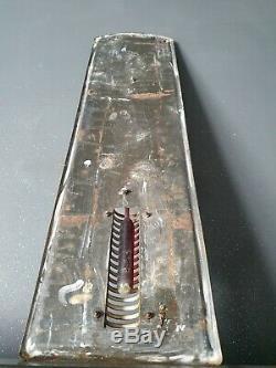 Ancienne Plaque Emaillee Thermometre Castrol Huile Pour Moteur 74 CM X 20cm