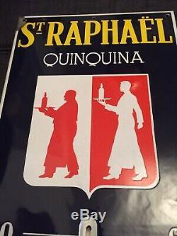 Ancienne Plaque Émaillée Thermomètre St Raphael Quinquina