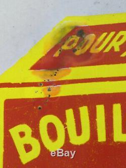 Ancienne Plaque Emaillée bombé BOUILLON KUB