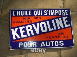 Ancienne Plaque Tole Emaillee Publicitaire Kervoline Huile Garage 1930 Neuhaus