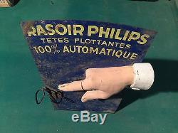 Ancienne Plaque Tole Philips Des Années 30