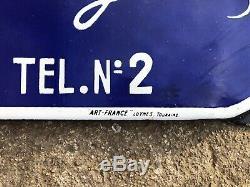 Ancienne Plaque émaillée Idéal Soda Grand Format Pin-up Nord Lille 1954