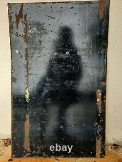 Ancienne Plaque émaillée MALT KNEIPP illustration Beuville émail Ed. Jean 50x79cm