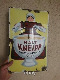 Ancienne Plaque émaillée MALT Kneipp