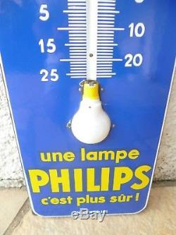 Ancienne Plaque émaillée PHILIPS de 1960 EAS 96 cm x 30 cm sympa pour déco