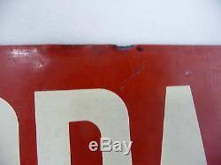 Ancienne Publicite De Garage Pour Equilibrage Muller Bem (1948-1958) Tole Peinte
