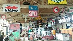 Ancienne RARE PLAQUE TOLE AUTOMOBILE HUISPANO SUIZA 1930, garage, no émaillée