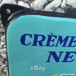 +++ Ancienne Rare Plaque Emaillee Creme De Gruyere Nestle En Vente ICI +++