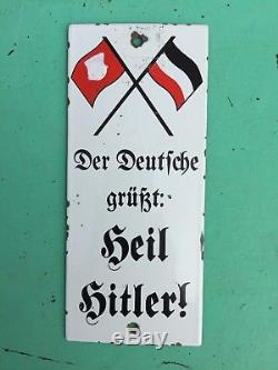 +++++ Ancienne Rare Plaque Emaillee Militaria Allemand Ww2 +++++