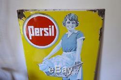 Ancienne Rare Plaque Emaillee Pub Persil Epicerie 1931 Antique Enamel Sign