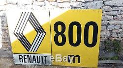 Ancienne TOLE RENAULT 1.50 MX1M garage, auto, moto