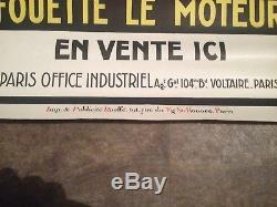 Ancienne affiche bougie colin 1940 no copie plaque emaillee garage moto auto