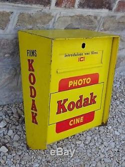 Ancienne boite aux lettres PHOTO KODAK CINE plaque emaillee old enamel advertise