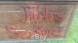 Ancienne enseigne bois 1920 MOTOBECANE cycles, cyclomoteur, motos, no émaillée